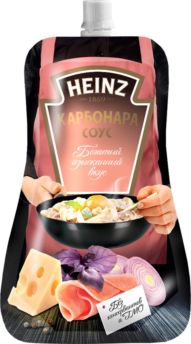 Heinz cоус Карбонара, 230 г76005503Этот соус приготовлен Шеф-поваром Heinz специально для вас, чтобы вы могли сделать необычным самое простое блюдо.