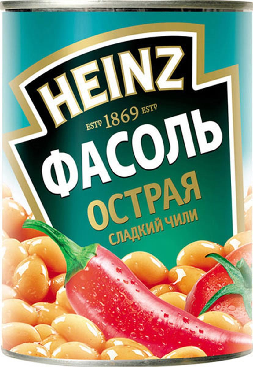 Heinz фасоль и сладкий чили, 390 г мистраль фасоль белая пестрая черный глаз 450 г