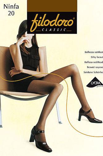 Колготки женские Filodoro Classic Ninfa 20, цвет: Abbronzante (бронзовый). C109172FC. Размер 4 (L) колготки filodoro ninfa размер 2 плотность 40 den vita bassa playa
