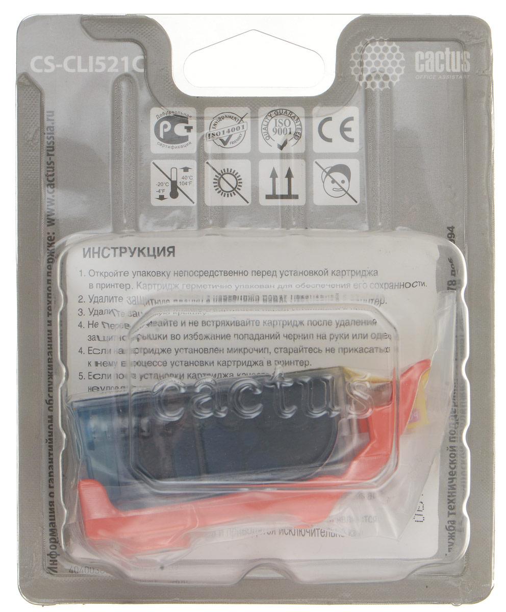 Cactus CS-CLI521C, Cyan картридж струйный для Canon MP540/MP550/MP620/MP630/MP640/MP660CS-CLI521CКартридж Cactus CS-CLI521C для струйных принтеров Canon.Расходные материалы Cactus для печати максимизируют характеристики принтера. Обеспечивают повышенную четкость изображения и плавность переходов оттенков и полутонов, позволяют отображать мельчайшие детали изображения. Обеспечивают надежное качество печати.
