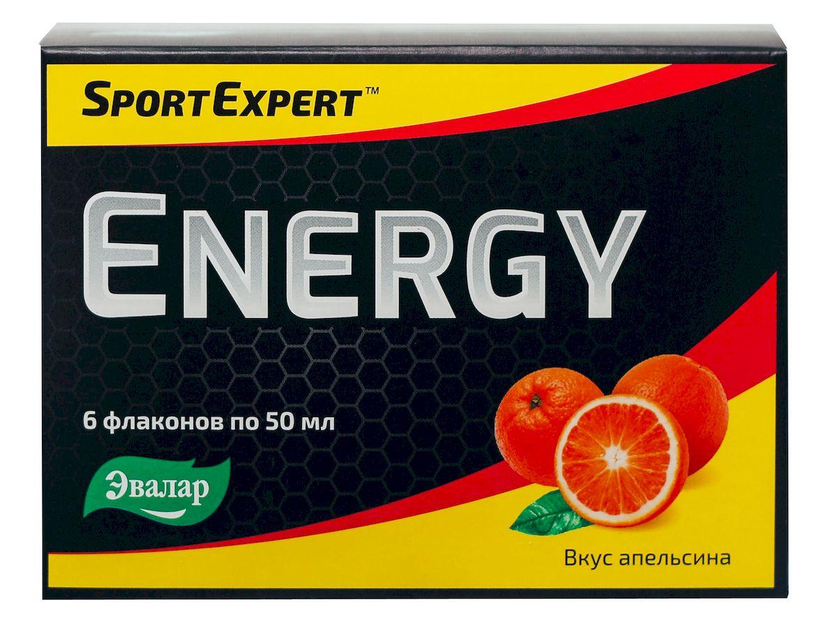 """SportExpert Energy Бодрящий апельсин, №6 по 50 мл4602242008729SportExpert EnergyИсточник сил, энергии и витаминов в период интенсивных тренировокSportExpert Energy:- Увеличивает выносливость организма- Повышает общую производительность мышечных тканейТонизирующее свойство напитка обеспечивает экстракт Гуараны – эффективный энерготоник с большей продолжительностью действия по сравнению с кофеином.Дополнительно SportExpert Energy содержит:- Магния лактат – препятствует избыточному возбуждению нервной системы- Витамин В6 – способствует нормальному функционированию мозга, хорошему сну, повышая уровень серотонина- Витамин В1 (тиамин) – помогает получить организму суточную норму глюкозы, сохраняет память и внимание- Витамин В5 (пантотеновая кислота) - регулирует и координирует функции нервной системы, нормализует умственную деятельность, способствует концентрации вниманияПреимущества SportExpert Energy:- Жидкая форма – лучшая степень усвоения- Приятный апельсиновый вкус- Все компоненты произведены в Германии- Удобная форма и способ приема – всего 1 флакон в деньСостав: Вода, фруктоза, экстракт гуараны, лактат магния, пантотенат кальция, тиамина гидрохлорид, пиридоксина гидрохлорид, лимонная кислота (регулятор кислотности), сахарный колер IV (краситель), ароматизатор натуральный """"Апельсин"""", сорбат калия (консервант)."""