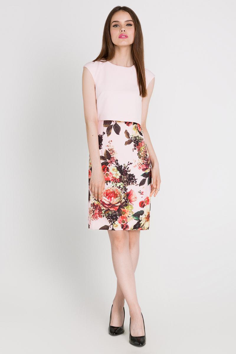 Платье Concept Club Aurely, цвет: светло-розовый, мультиколор. 10200200171_3400. Размер M (46)