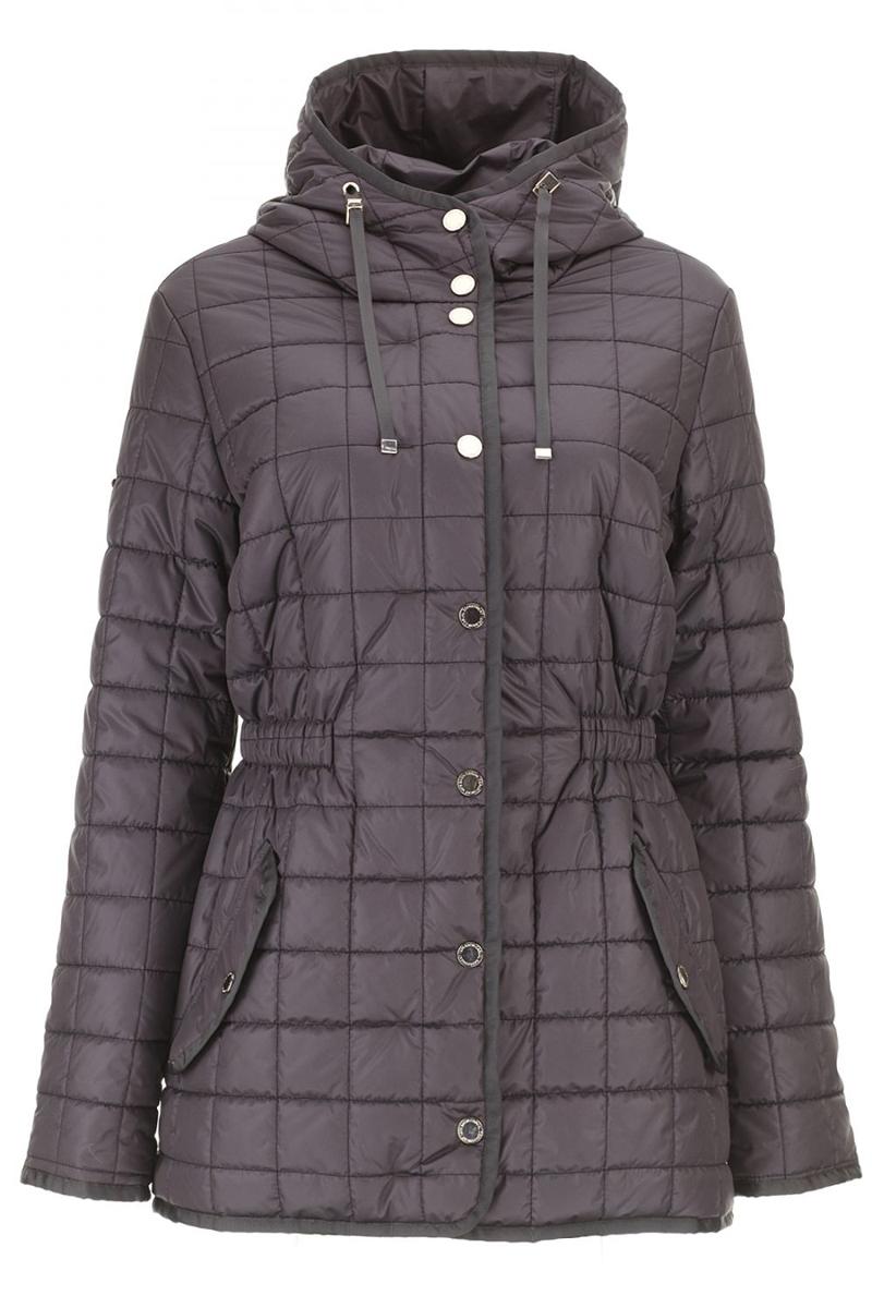 Куртка женская Baon, цвет: коричневый. B036637_DARK CHOCOLATE. Размер 56B036637_DARK CHOCOLATEМужская куртка Baon выполнена из 100% полиамида. В качестве подкладки и наполнителя используется полиэстер. Модель с воротником-капюшоном и длинными рукавами застегивается на застежку-молнию, а сверху дополнена защитной планкой на металлических кнопках. Капюшон имеет дополнительные утягивающие шнурочки. Перед куртки оформлен двумя втачными карманами с клапанами на кнопках. Внутренняя сторона изделия дополнена в поясе резинкой со стопперами. Все края модели выполнены стильной окантовкой.