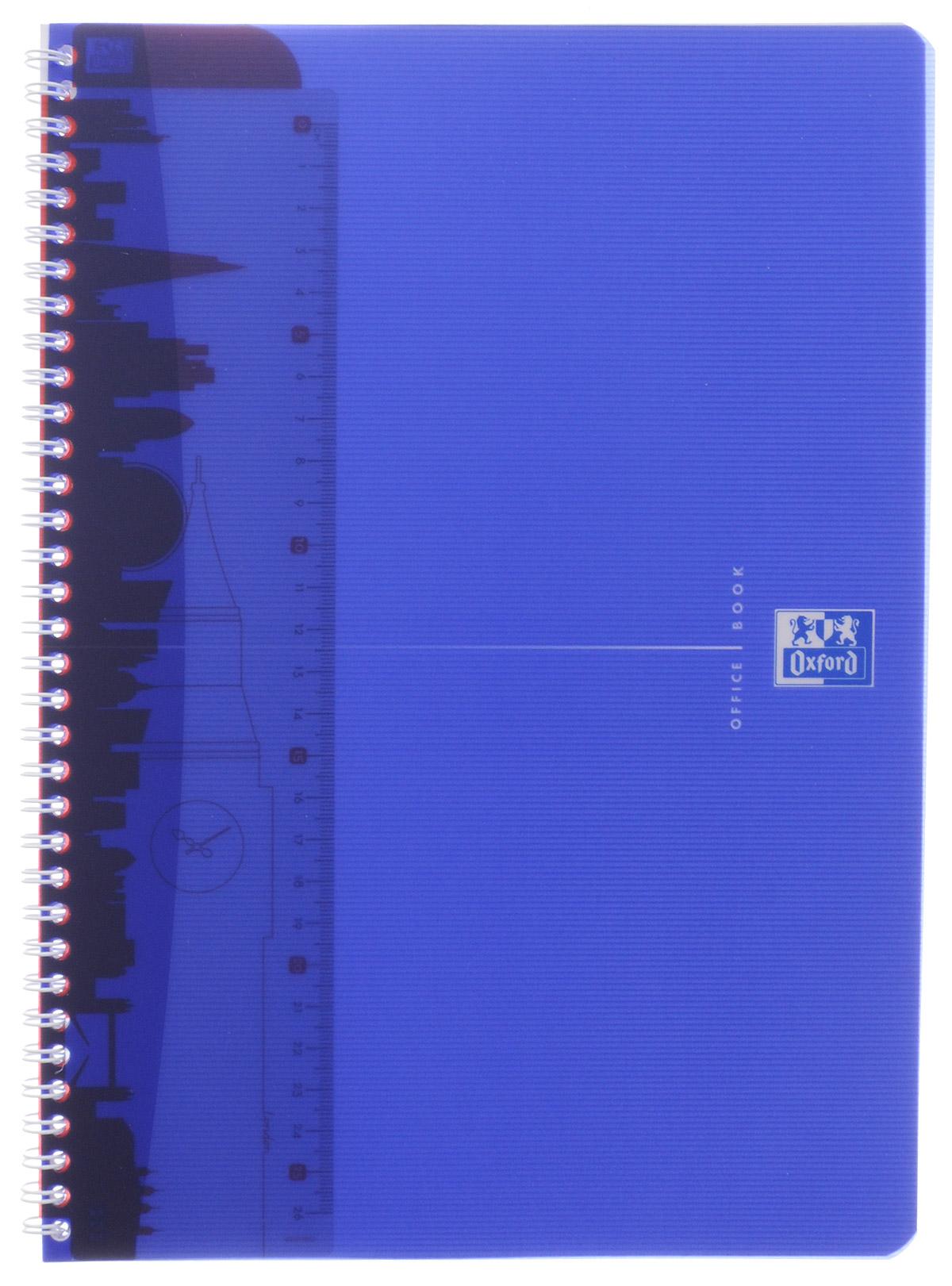 Oxford Тетрадь My Colours 50 листов в клетку цвет синий817832_синийТетрадь Oxford My Colours формата А4 на металлическом гребне в полупрозрачной, гибкой, водонепроницаемой обложке из синего полипропилена подойдет школьнику и студенту для различных записей.Внутренний блок тетради состоит из 50 листов белой бумаги в клетку без полей. Высококачественная бумага имеет шелковистую поверхность и высокую белизну. На гребне тетради крепится разделитель, который выполняет функции закладки и линейки, он может быть перемещен в любое удобное для пользователя место.