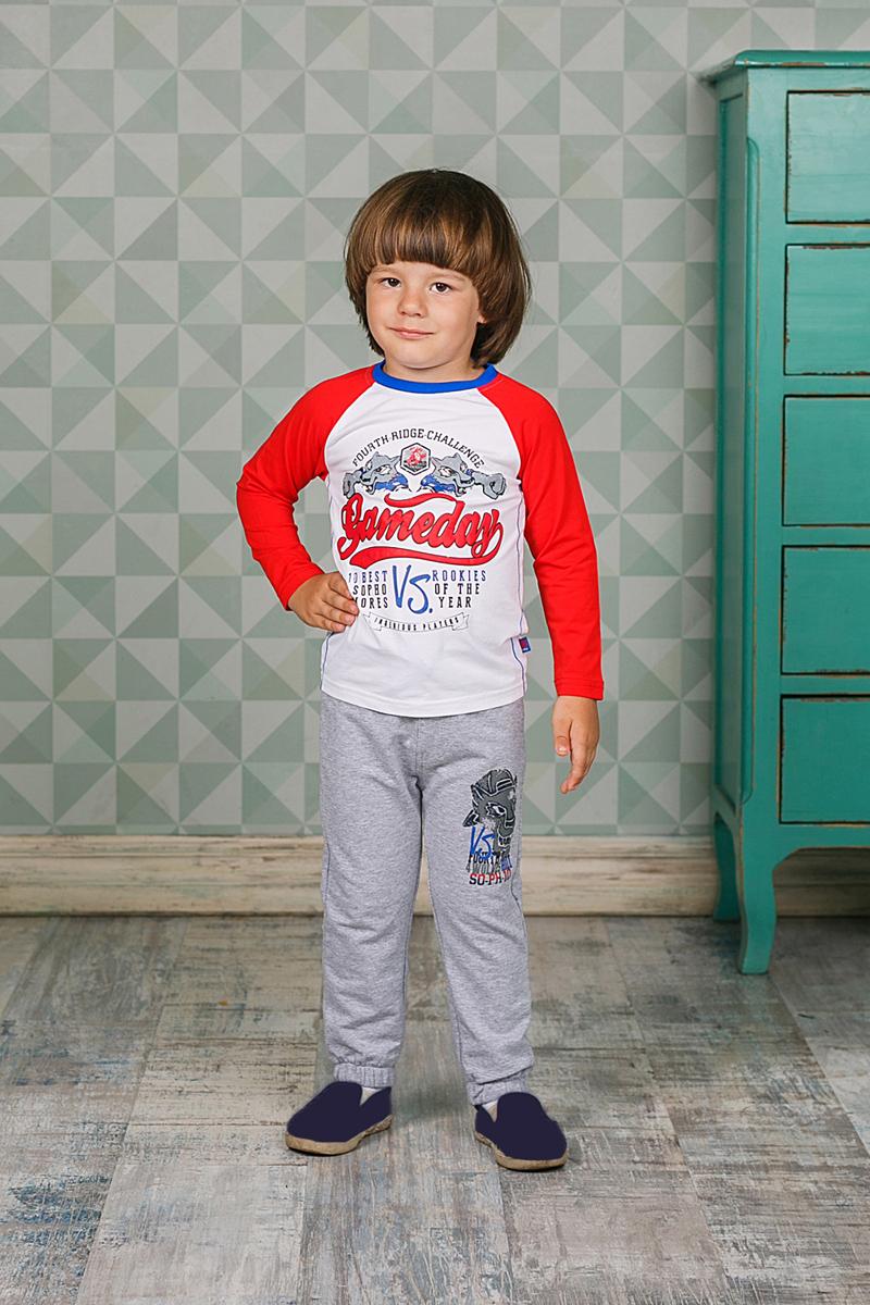 Брюки для мальчика Sweet Berry, цвет: серый. 206164. Размер 86206164Спортивные брюки для мальчика Sweet Berry идеально подойдут для отдыха и прогулок. Изготовлены из высококачественного материала и оформлены принтом. Брюки на талии имеют широкую трикотажную резинку с затягивающимся шнурком, что обеспечивает удобную посадку изделия на фигуре.
