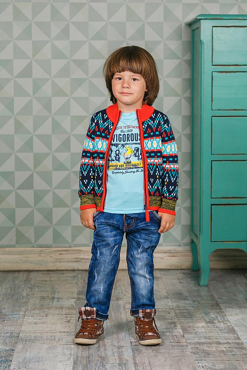 Джинсы для мальчика Sweet Berry, цвет: синий. 206129. Размер 80 джинсы для девочки sweet berry цвет синий 205275 размер 80
