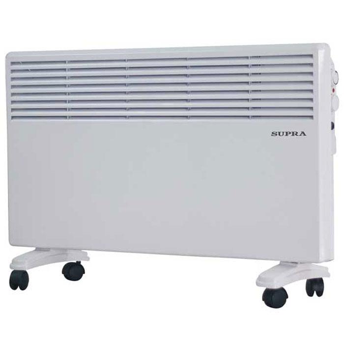 Supra ECS-405, White обогревательECS-405 whiteSupra ECS-405 - это электрический обогреватель конвективного типа.Холодный воздух, проходя через прибор и его нагревательный элемент, нагревается и выходит сквозь решетки-жалюзи, незамедлительно начиная обогревать помещение. Вся конструкция Supra ECS-405 направлена на равномерное распределение тепла для обогрева с максимальным комфортом. Бесшумная работа.В комплектемонтажная планка для настенного крепления иколёсики для напольного размещения и удобного перемещения.Как выбрать обогреватель. Статья OZON Гид
