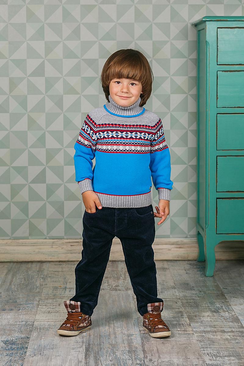 Свитер для мальчика Sweet Berry, цвет: синий. 206154. Размер 80206154Теплый вязаный свитер Sweet Berry для мальчика идеально подойдет вашему ребенку в прохладные дни. Уютный свитер с длинными рукавами имеет высокий воротник-гольф с отворотом. Низ рукавов, воротник и низ изделия дополнены вязаной крупной резинкой. Оформлен оригинальным узором.