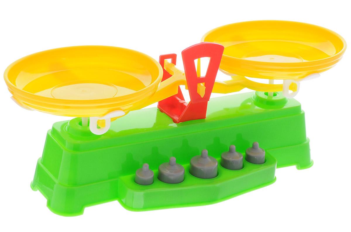 Marek Игрушечные весы цвет салатовый желтый машины игрушечные детские