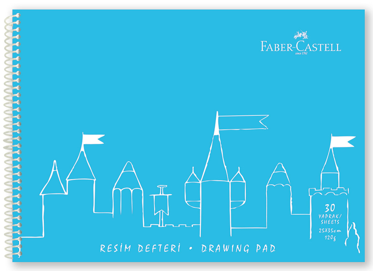 Faber-Castell Блокнот для рисования формат А4 30 листов цвет голубой400036_голубойБлокнот для рисования Faber-Castell идеален для рисунков, эскизов или заметок. Внутренний блок на спирали состоит из 30 листов белоснежной бумаги формата А4. Листы с микроперфорацией для удобного отрыва. Обложка выполнена из цветного гибкого пластика.