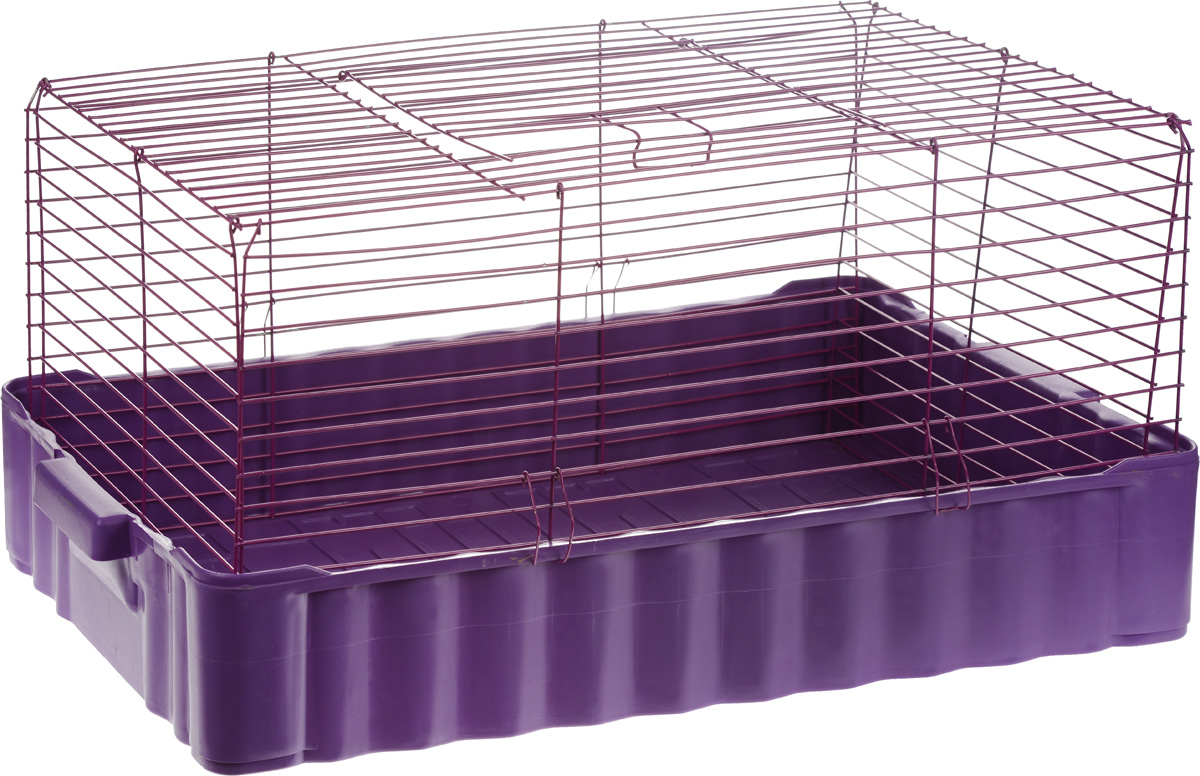 Клетка для кролика ЗооМарк, цвет: фиолетовый, 79 х 47 х 48 см640_фиолетовыйКлассическая клетка ЗооМарк со сплошным дном станет уединенным личным пространством и уютным домиком для кролика. Изделие выполнено из металла и пластика. Клетка надежно закрывается на защелки. Легко чистится. Для более удобной транспортировки клетку можно сложить.Размер клетки: 79 см х 47 см х 48 см.