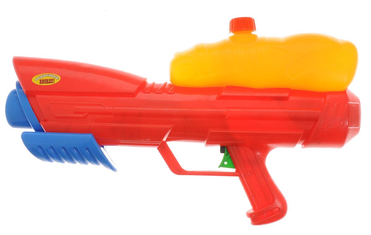 Тилибом Водный пистолет с помпой Пистолето цвет красный оранжевый водный пистолет тилибом с помпой 45см красный для мальчика