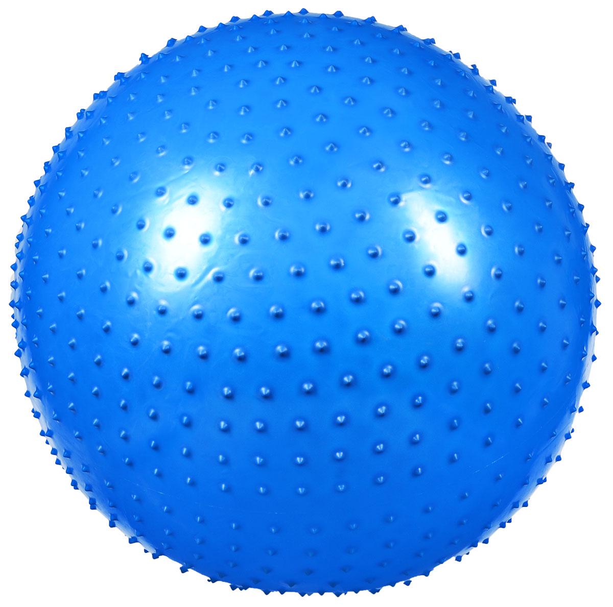 Фитбол массажный Ironmaster, цвет: синий, диаметр 75 см фитбол 100 см