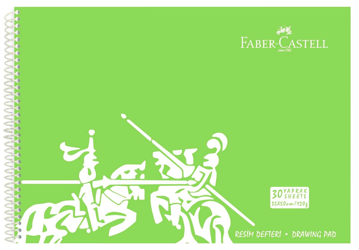 Faber-Castell Блокнот для рисования формат А3 30 листов цвет салатовый400136_салатовыйБлокнот для рисования Faber-Castell идеален для рисунков, эскизов или заметок. Внутренний блок на спирали состоит из 30 листов белоснежной бумаги формата А3. Листы с микроперфорацией для удобного отрыва. Обложка выполнена из цветного гибкого пластика.