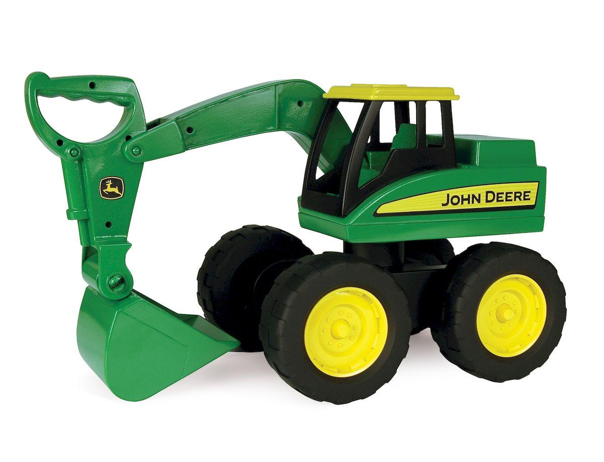 Tomy Большегрузный экскаватор John Deere машины tomy трактор john deere monster treads с большими резиновыми колесами