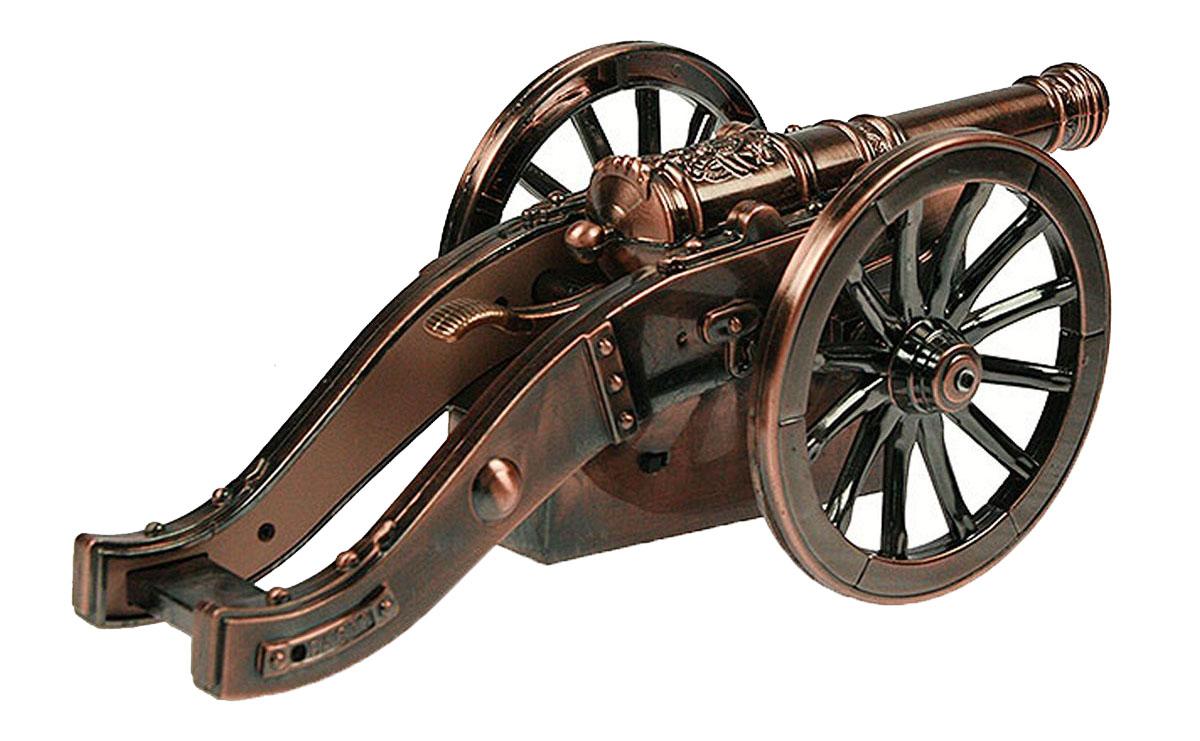 Зажигалка Русские Подарки Пушка, музыкальная, 25 х 10 х 9 см41101Зажигалка музыкальная Русские подарки Пушка выполнена в старинном стиле. Она отличается элегантным дизайном, превосходным качеством и простотой применения. Настольная зажигалка в виде пушки станет уникальным, полезным подарком для родственников, коллег, знакомых и близких. Правила ухода: избегать попадания влаги, беречь от детей. Тип поджига: кремниевая.Размер зажигалки: 25 х 10 х 9 см.