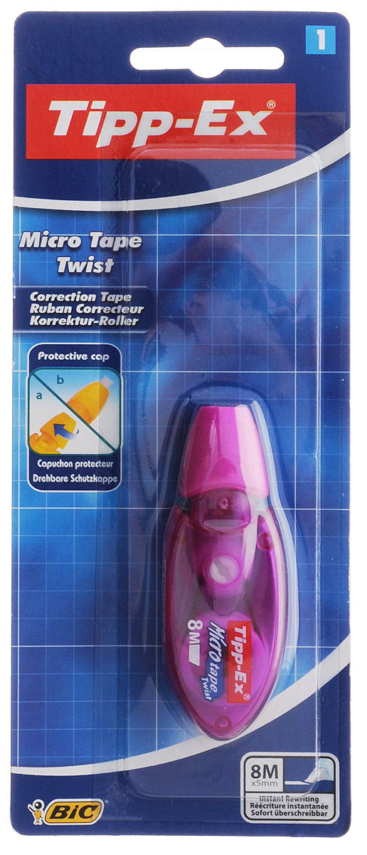Bic Корректирующая лента Tipp-Ex Micro Tape 8 м цвет фиолетовый
