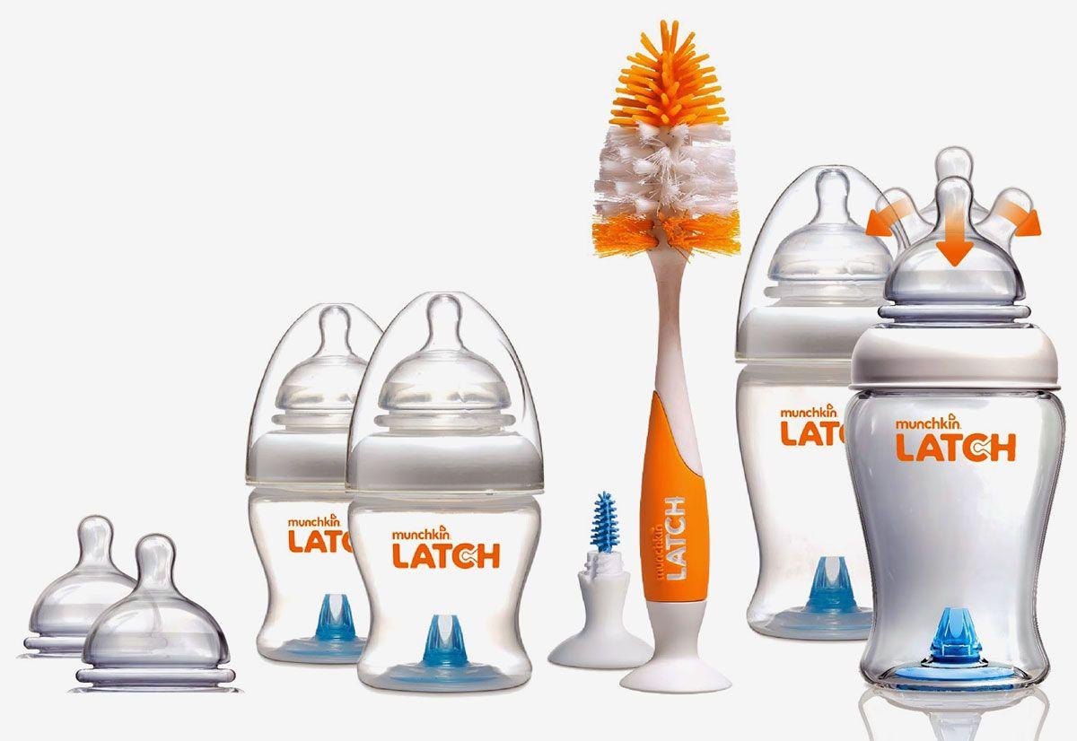 Munchkin Набор бутылочек для кормления от 0 месяцев 4 шт + 6 сосок и ершик