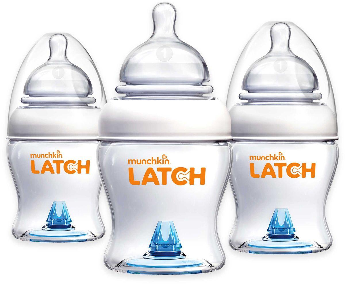 Munchkin Бутылочки для кормления от 0 месяцев 120 мл 3 шт + соска набор нагрудников с кармашком для крошек 2 шт динозавр космос 24 munchkin