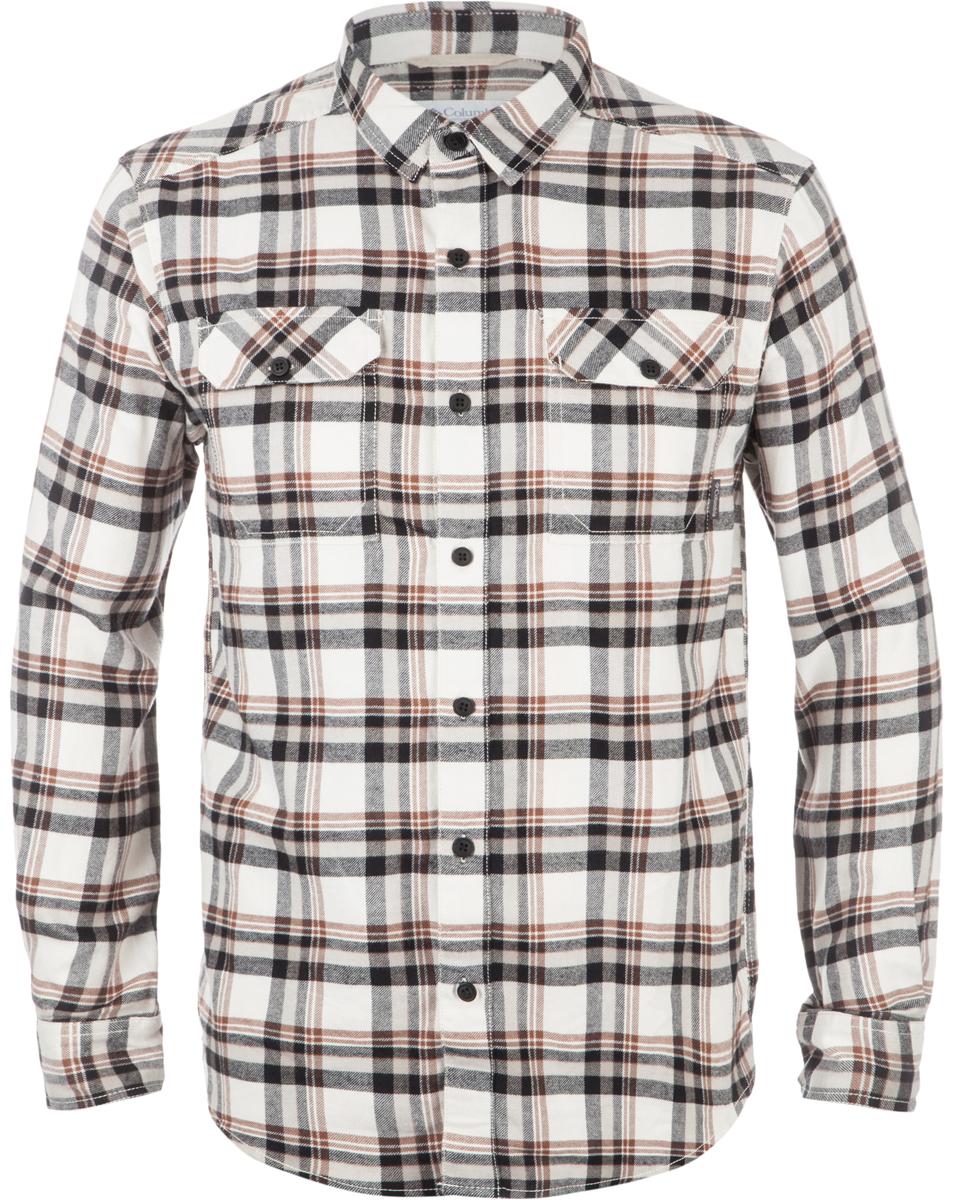 Рубашка мужская Columbia Flare Gun, цвет: бежевый, черный. 1552151-191. Размер S (44/46)1552151-191Мужская рубашка средней длины - классика бренда Columbia. Модель несомненно пригодится в путешествиях. Свободный крой не стесняет движений. Фланелевая ткань изготовлена из хлопка, который отлично пропускает воздух, приятен на ощупь и не требует дополнительного ухода. Подкладка выполнена из мягкого эластичного трикотажа. Благодаря утеплителю рубашку можно носить в холодное время года.