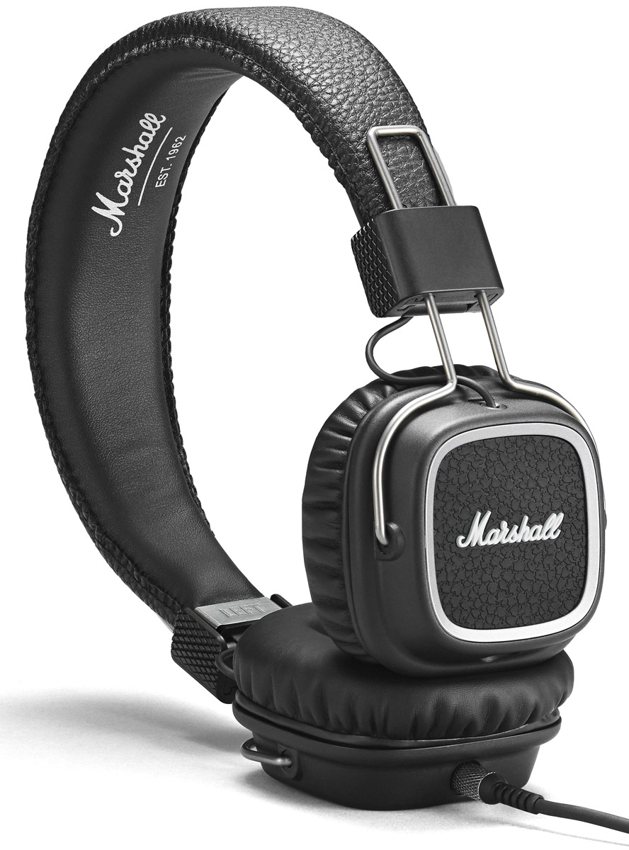 Marshall Major II Steel Edition, Black наушники major ii brown