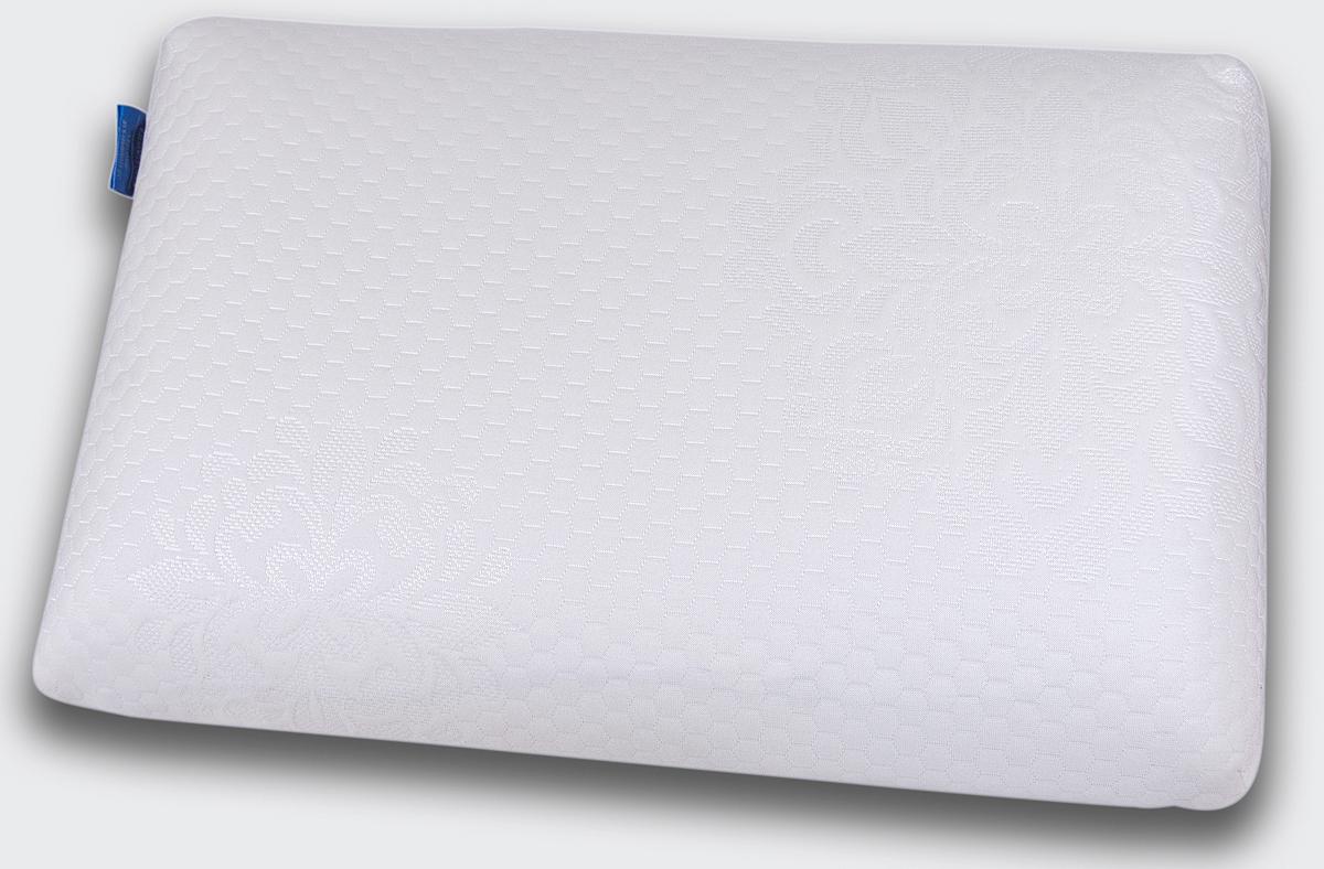 """Супер комфортная анатомическая подушка классической формы IQ Sleep """"Sensation"""" уникальна. Подушка сочетает в себе три основных  фактора идеальной подушки: ортопедическую поддержку, удобную классическую форму и невероятный комфорт благодаря премиальной  анатомической пене c эффектом памяти OPTIREST. Внешний чехол выполнен из 100% полиэстера.  Подушка не требует наличия специальных валиков для поддержки шеи  и  предназначена для:   - обеспечения естественного положения и полноценного отдыха шеи и головы,  - профилактики спазма затылочных мышц  и шеи,  - улучшения кровоснабжения головного мозга и стимулирования работы мозга,  - снятия зрительной нагрузки и профилактики близорукости,  - профилактики инсульта в вертебро-базилярной системе,  - улучшения сна,  - профилактики общего стресса организма.  IQ Sleep """"Sensation"""" удобна в использовании. В отличие от обычных подушек, она не теряет форму и поддерживает голову  и шею в течение всей  ночи.    Подходит для взрослых и детей от 8 лет:  - для тех, кто предпочитает спать на спине, на животе,   - для тех, предпочитает спать на боку или в разных положениях (на боку, спине,  животе) .   ПРЕИМУЩЕСТВА: - Принимает форму тела;  - Экологически чистая;  - Предотвращает появление клещей;         - Способствует крепкому сну;  - Не вызывает аллергию;  - Помогает улучшить состояние организма.               Размер: 38 х 58 х 11 см. Чехол внутренний: 100% хлопок. Чехол внешний: нежный трикотаж 100% полиэстер."""