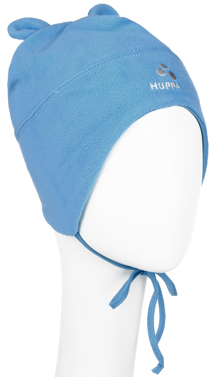 Шапка детская Huppa Winnie, цвет: голубой. 8825AW14-076. Размер 438825AW14-076Флисовая детская шапочка Huppa Winnie станет отличным дополнением к детскому гардеробу. Верх изделия изготовлен из 100% полиэстера, а подкладка из качественного хлопка, что обеспечивает тепло и комфорт. Шапка идеально прилегает к голове ребенка.Шапка оформлена в лаконичном стиле, на макушке декорирована небольшими ушками.Изделие завязывается на шнурочки, пришитые сбоку к удлиненным ушкам, тем самым обеспечивает тепло в холодную погоду и защищает детские ушки от холода. Дополнена шапочка вышитым названием бренда. Оригинальный дизайн и расцветка делают эту шапку стильным предметом детского гардероба. В ней ребенку будет тепло, уютно и комфортно. Уважаемые клиенты!Размер, доступный для заказа, является обхватом головы.