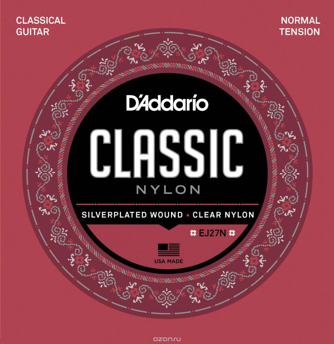 D'Addario EJ27N струны для классической гитары - Гитарные аксессуары и оборудование