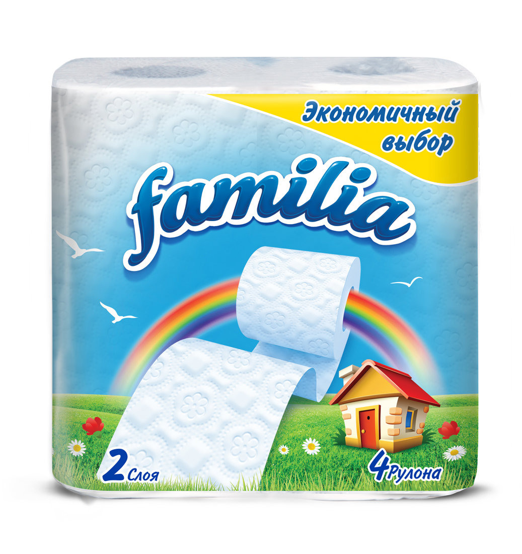 Туалетная бумага Familia Радуга, двухслойная, 4 рулона5040086Двухслойная туалетная бумага Familia Радуга изготовлена из целлюлозы высшего качества.Листы оформлены тисненым рисунком и перфорацией. Мягкая, нежная, но в тоже время прочная,бумага не расслаивается и отрывается строго по линии перфорации. Бумага ароматизированная.Туалетная бумага Familia предназначена для тех, кто хочет, чтобы ванная была самая уютная насвете, а нежный аромат поднимет вам настроение.Товар сертифицирован.Материал: 100% целлюлоза.Количество листов (в одном рулоне): 141 шт.Количество слоев: 2.Размер листа: 9,5 см х 12 см.Длина рулона: 16,9 м.