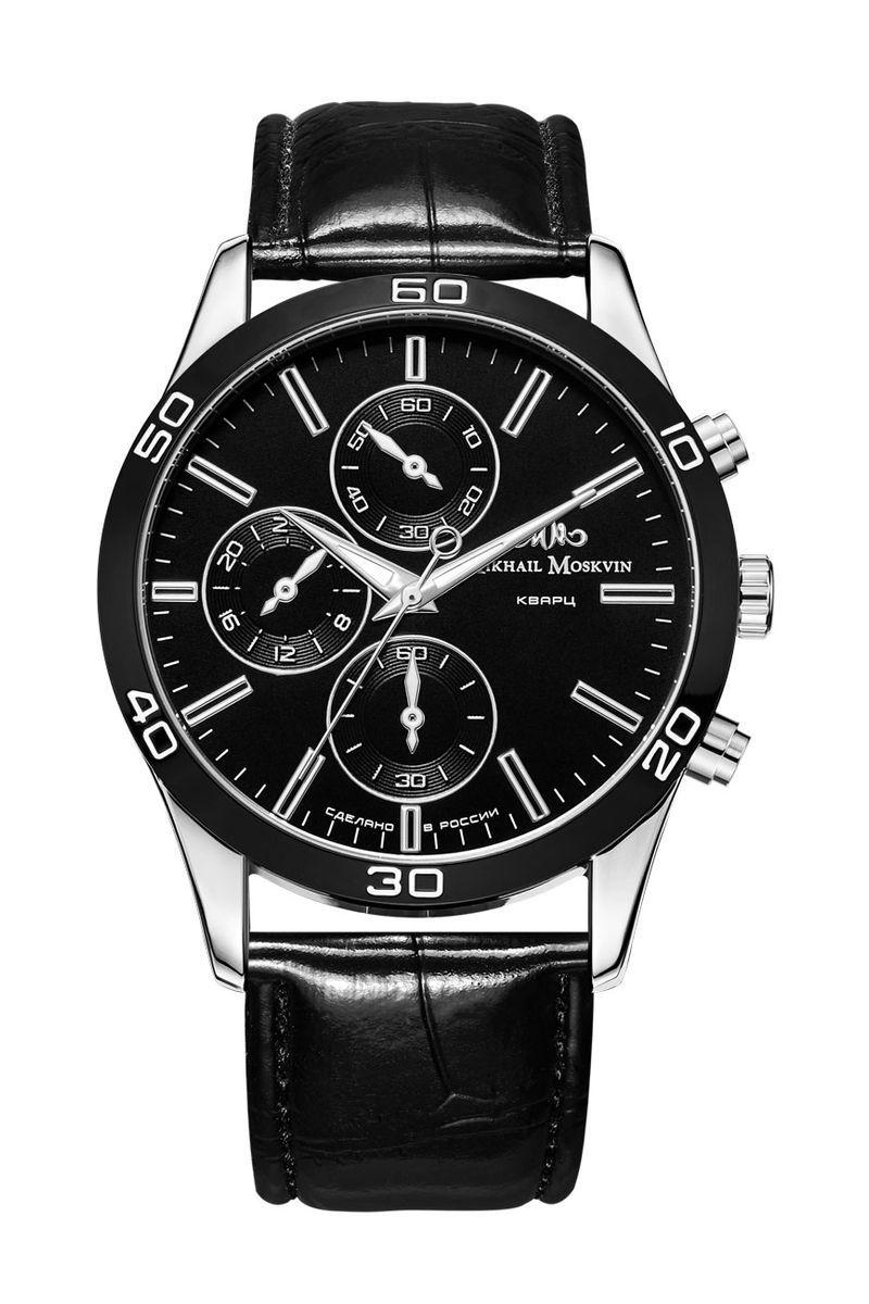 Часы наручные мужские Mikhail Moskvin, цвет: серебристый, черный. 1134A1L1