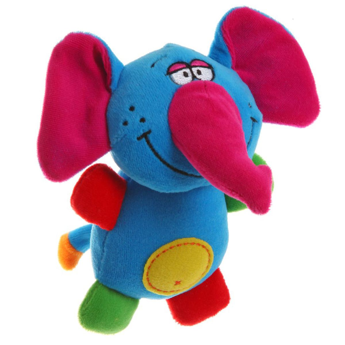 Bondibon Мягкая игрушка-погремушка Слон bondibon мягкая игрушка погремушка слоник