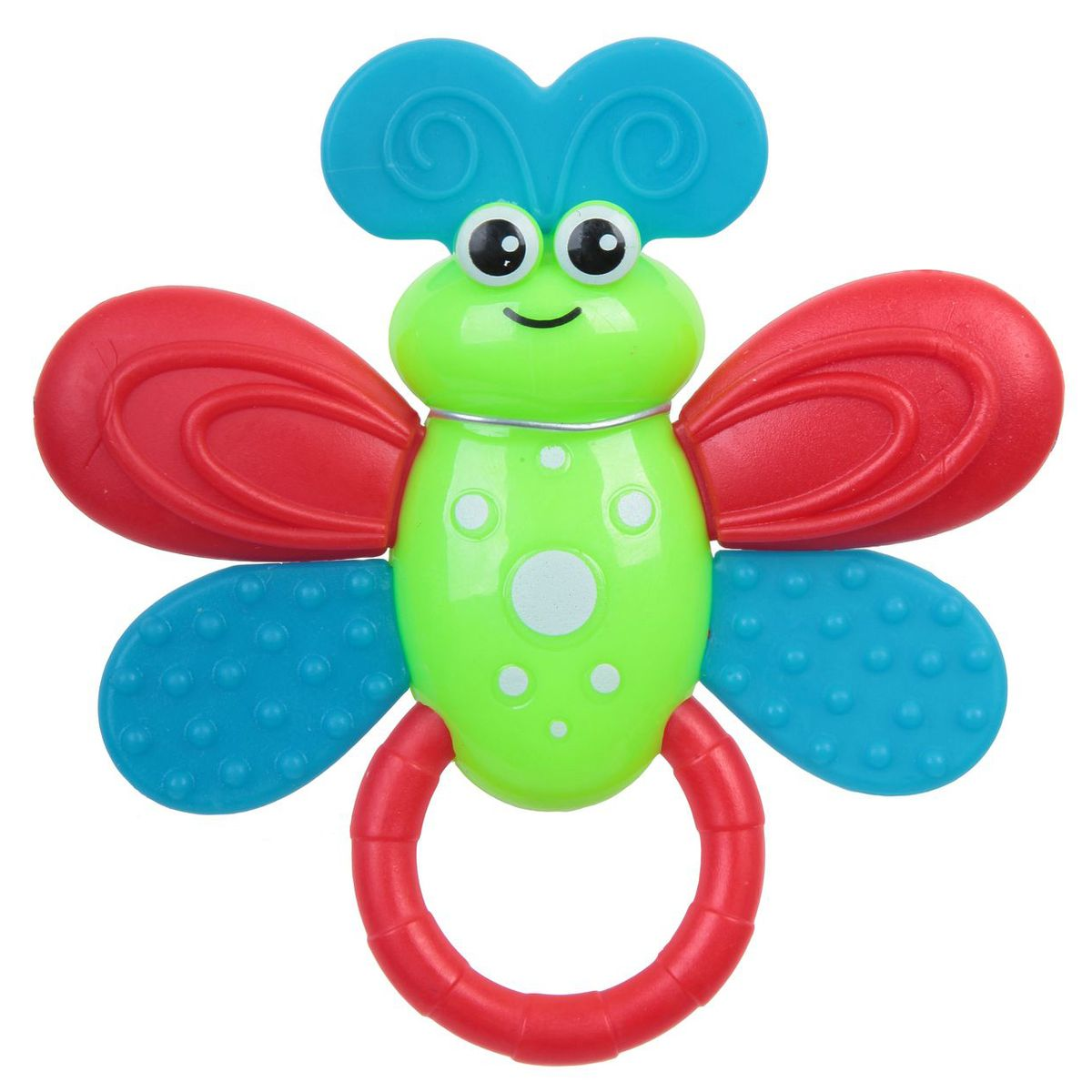 Bondibon Погремушка Пчелка цвет салатовый bondibon мягкая игрушка погремушка слоник