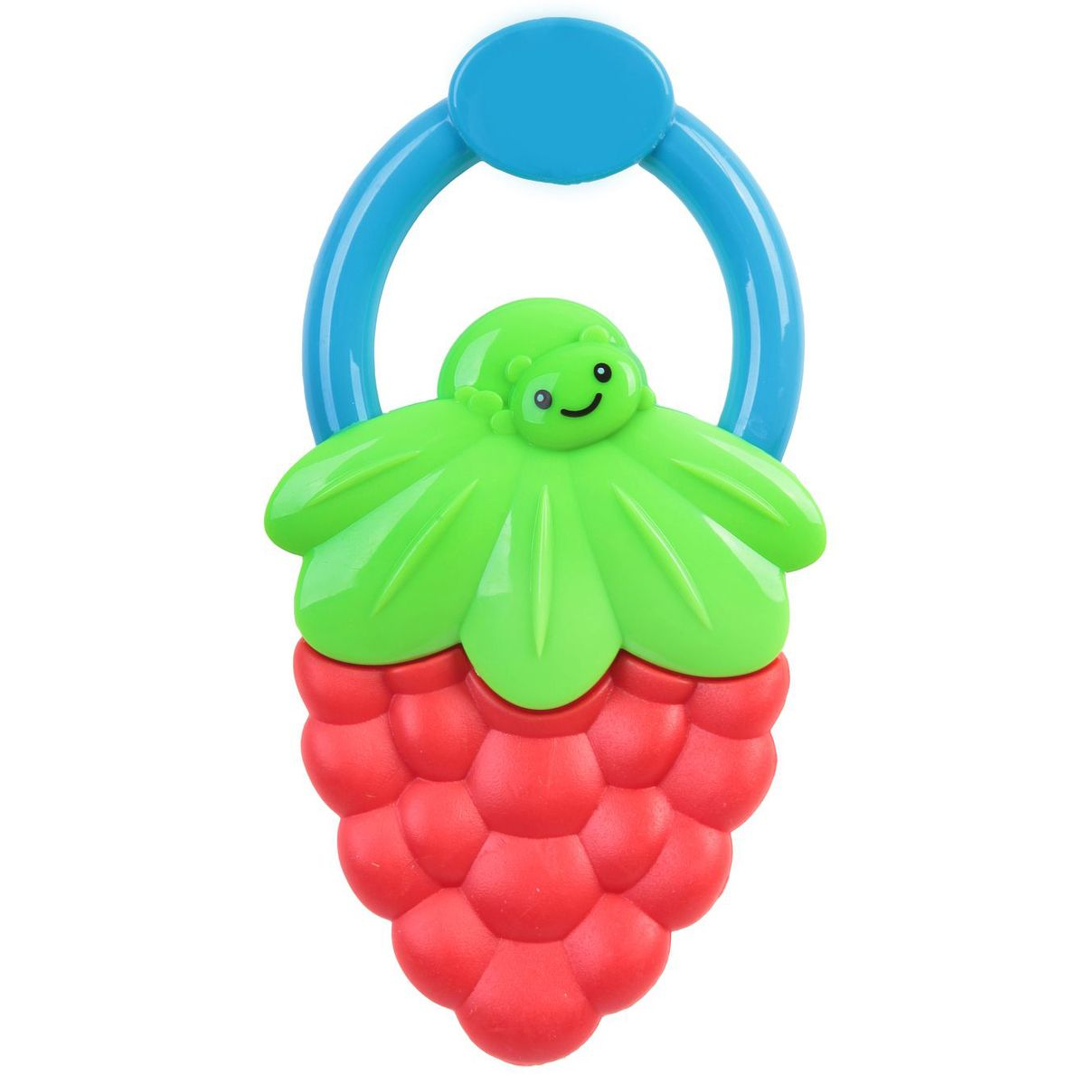 Bondibon Погремушка Ягодка цвет красный зеленый bondibon копилка в технике декопатч сердечко