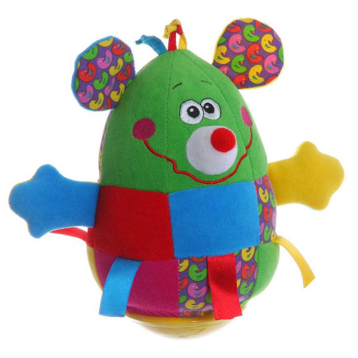 Bondibon Мягкая неваляшка Мышь развивающие игрушки bondibon неваляшка мышь 19 см