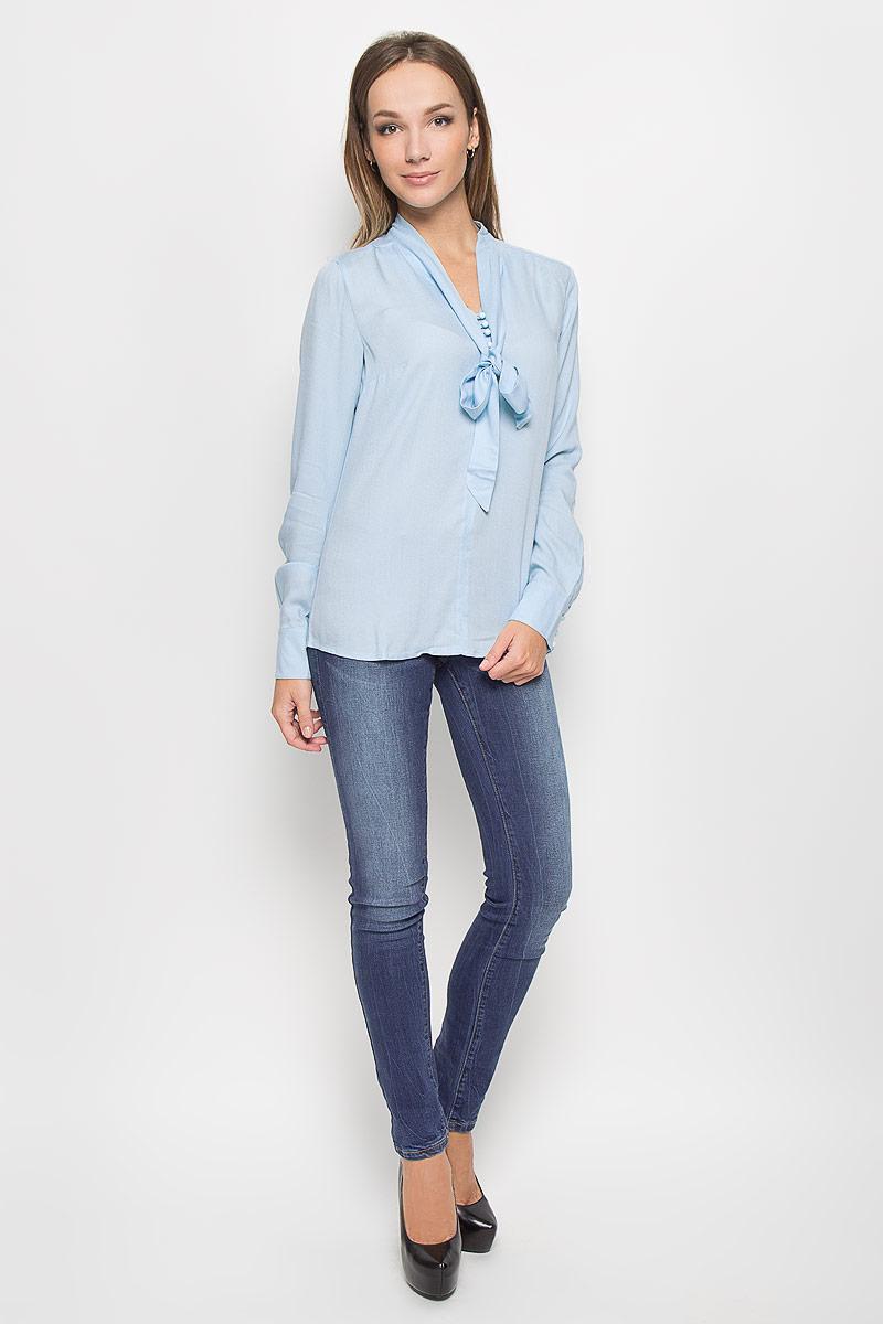 Блузка женская Finn Flare, цвет: голубой. A16-11083_138. Размер XS (42) sitemap 31 xml