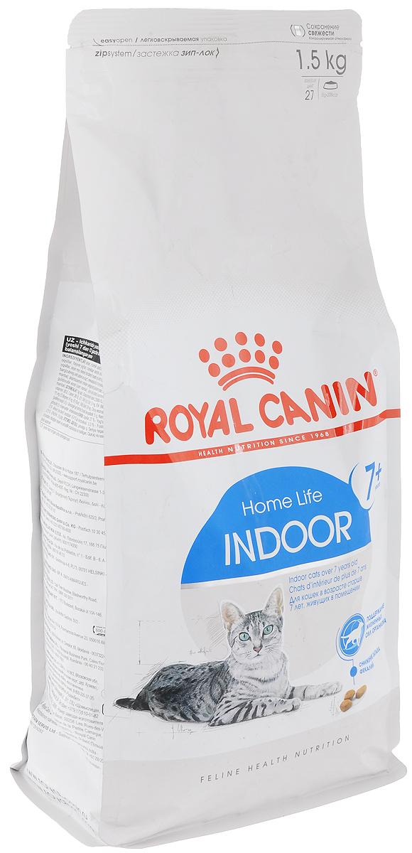 Корм сухой Royal Canin Indoor 7+, для кошек в возрасте от 7 до 12 лет, живущих в помещении, 1,5 кг44437Корм сухой Royal Canin Indoor +7 - полнорационное питание для пожилых кошек с 7 до 12 лет, постоянно проживающих в помещении.Для поддержания жизненных сил стареющей кошки. Корм Indoor 7+ помогает сохранять молодость кошки благодаря запатентованному комплексу витаминов и питательных веществ с антиоксидантными свойствами и полифенолам зеленого чая и винограда.Хондропротекторные вещества и незаменимые жирные кислоты EPA и DHA, содержащиеся в этом корме, поддерживают здоровье суставов кошки. Красота и блеск шерсти кошки: улучшает блеск шерсти и здоровье кожи благодаря присутствию в корме активных питательных веществ, в том числе витаминов А и В, незаменимых жирных кислот, микроэлементов в хелатной форме, масла огуречника аптечного (богатого гамма-линоленовой кислотой) и рыбьего жира (источника жирных кислот Омега 3).Обеспечение здоровья почек - адекватное содержание фосфора: адаптированный уровень фосфора (0,79%) способствует поддержанию здоровья почек у пожилых кошек. Состав: дегидратированные белки животного происхождения (птица), кукуруза, кукурузная мука, ячмень, пшеница, кукурузный глютен, животные жиры, изолят растительного белка, гидролизат белков животного происхождения, растительная клетчатка, свекольный жом, минеральные вещества, соевое масло, рыбий жир, яичный порошок, оболочки семян и семена подорожника Psyllium, дрожжи, фруктоолигосахариды, масло огуречника аптечного, экстракты зеленого чая и винограда (источник полифенолов), гидролизат из панциря ракообразных (источник глюкозамина), экстракт бархатцев прямостоячих (источник лютеина), гидролизат из хряща (источник хондроитина). Добавки (на 1 кг):Витамин А - 27800 МЕ, витамин D3 - 1100 МЕ, железо - 43 мг, йод - 4,3 мг, медь - 7 мг, марганец - 56 мг, цинк - 168 мг, селен - 0,07 мг, консерванты, антиоксиданты. Товар сертифицирован.Чем кормить пожилых кошек: советы ветеринара. Статья OZON Гид