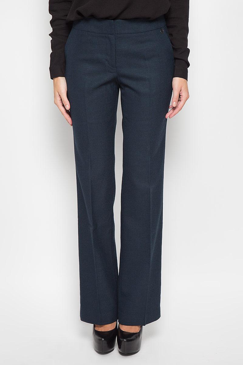 Брюки женские Finn Flare, цвет: темно-синий. A16-170590_101. Размер M (46) брюки и капр
