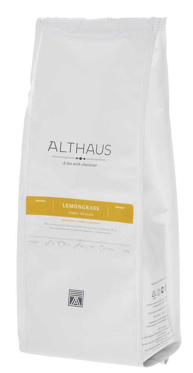 Althaus Lemongrass травяной листовой чай, 100 гTALTHG-L00068Лимонник — восстанавливающий и тонизирующий напиток с ярким, освежающим травянисто-цитрусовым букетом. Листочки Лимонника окрашены в красивый светло-фисташковый цвет и имеют необычную геометрически правильную форму. Настой этого фито-чая отличается мягким вкусом с прозрачной лимонной ноткой и легким пряным оттенком. Его сладко-леденцовый аромат несет в себе благоухание зеленых заливных лугов и густых зарослей влажных джунглей. Лимонник растет в тропических районах Юго-Восточной Азии. Его длинные и узкие стебли богаты эфирными маслами, которые как раз и обуславливают лимонный запах напитка и нежный имбирный оттенок во вкусе.Лимонник на протяжении веков использовался в восточной медицине. В Европе он получил известность благодаря популяризации тайской и индонезийской кухни.Лимонник станет идеальным завершением легкого завтрака, ведь он не только полезен для здоровья, но и обладает замечательным тонизирующим эффектом. Ароматный чай из этого тропического растения – превосходное средство от простуды. Натуральный напиток с тонкой цитрусовой нотой лимонника утоляет жажду и дарит освежающую прохладу в самые знойные дни жаркого лета.Температура воды: 85-100 °С Время заваривания: 4-5 мин Цвет в чашке: желтыйВсё о чае: сорта, факты, советы по выбору и употреблению. Статья OZON Гид