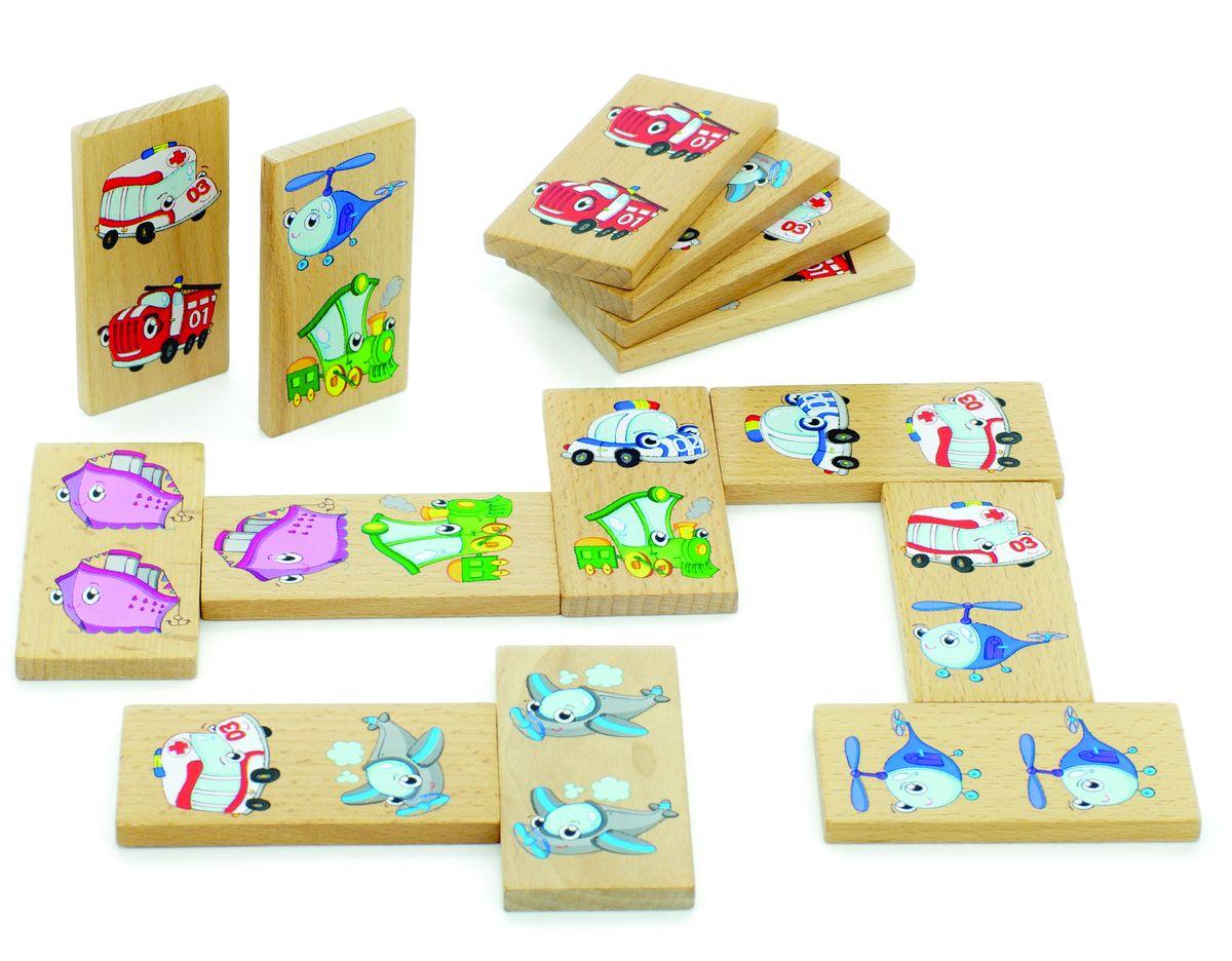 Мир деревянных игрушек Обучающая игра Домино Транспорт амброгексал сироп 6 мг мл 100 мл