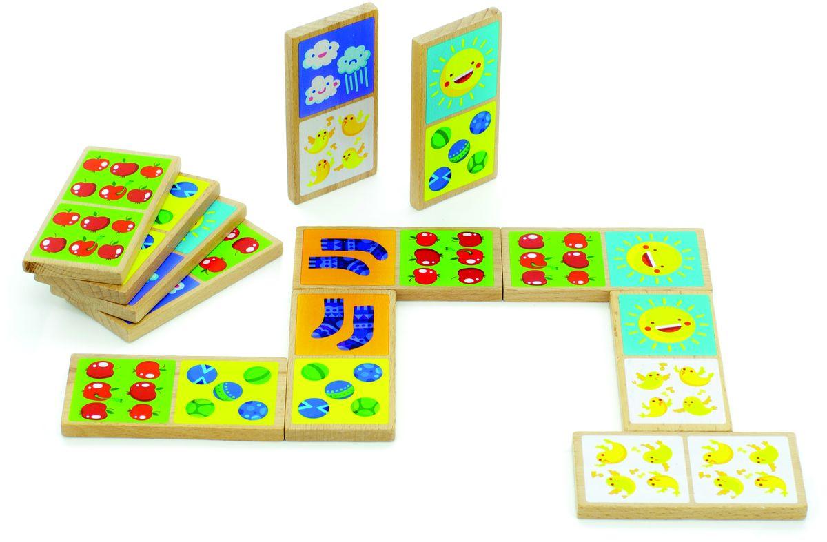 Мир деревянных игрушек Обучающая игра Домино Счет магазин игрушек игра для детей