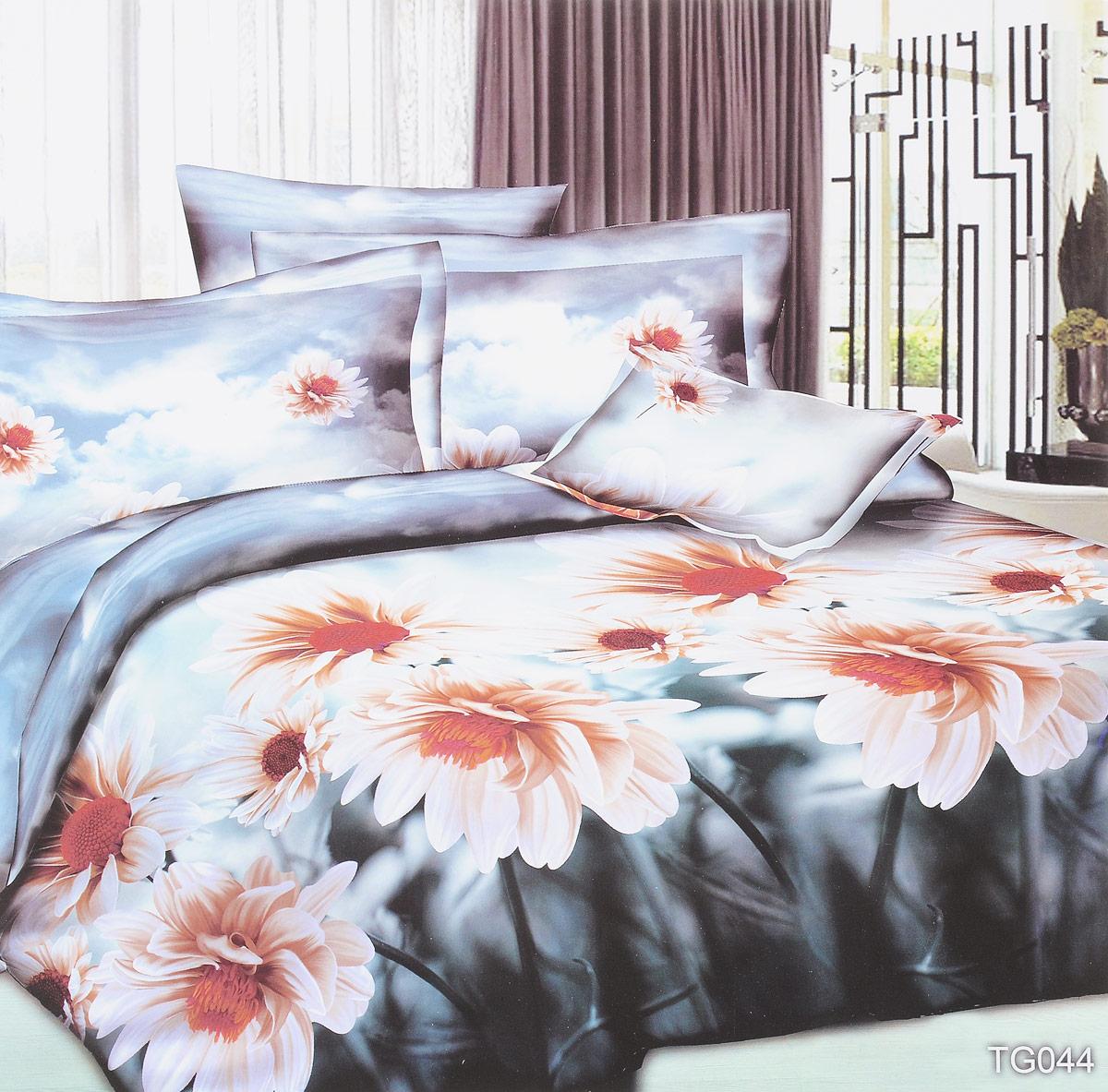 Комплект белья ЭГО Адель, 2-спальный, наволочки 70 x 70, цвет: серый