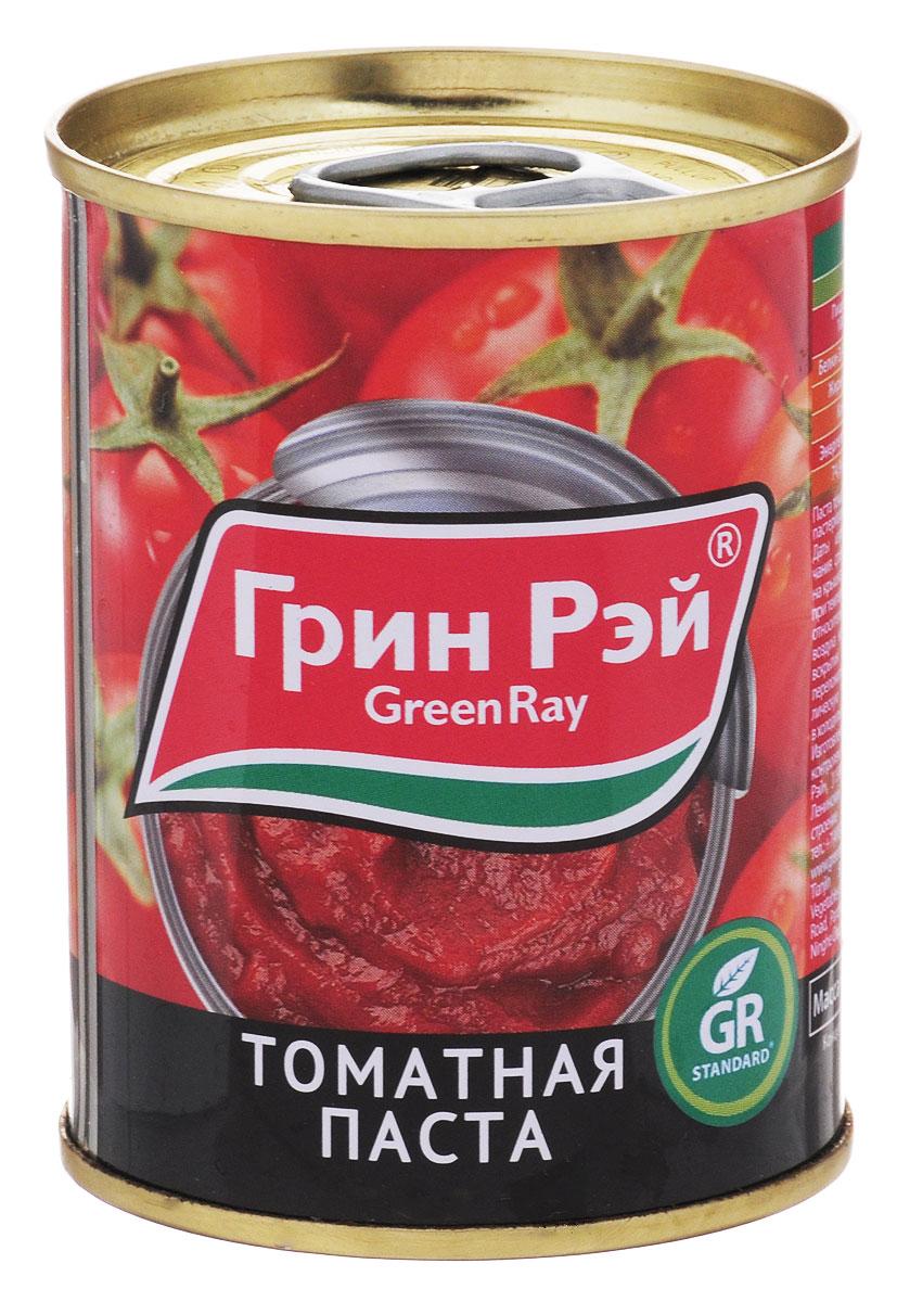 Green Ray паста томатная 25-28% пастеризованная, 140 г620Томатная паста Green Ray с насыщенным вкусом. Томатная паста очень густая и приготовлена только из помидоров.