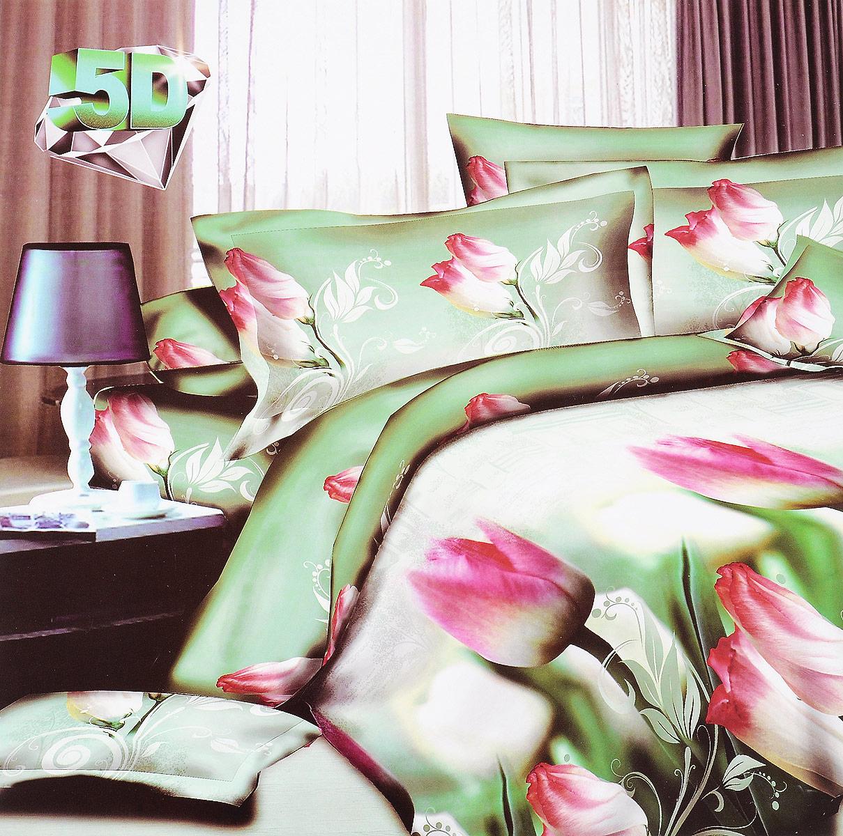 Комплект белья ЭГО Весенний аромат, 2-спальный, наволочки 70x70, цвет: зеленыйЭ-2020-02Комплект белья ЭГО Весенний аромат выполнен из полисатина (50% хлопка, 50% полиэстера). Комплект состоит из пододеяльника, простыни и двух наволочек. Постельное белье имеет изысканный внешний вид и яркую цветовую гамму. Гладкая структура делает ткань приятной на ощупь, мягкой и нежной, при этом она прочная и хорошо сохраняет форму. Ткань легко гладится, не линяет и не садится. Приобретая комплект постельного белья ЭГО Весенний аромат, вы можете быть уверенны в том, что покупка доставит вам и вашим близким удовольствие и подарит максимальный комфорт.