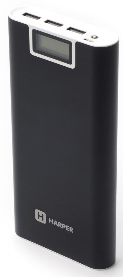 Harper PB-2016, Black внешний аккумулятор harper pb 0011 grey внешний аккумулятор 10000 мач