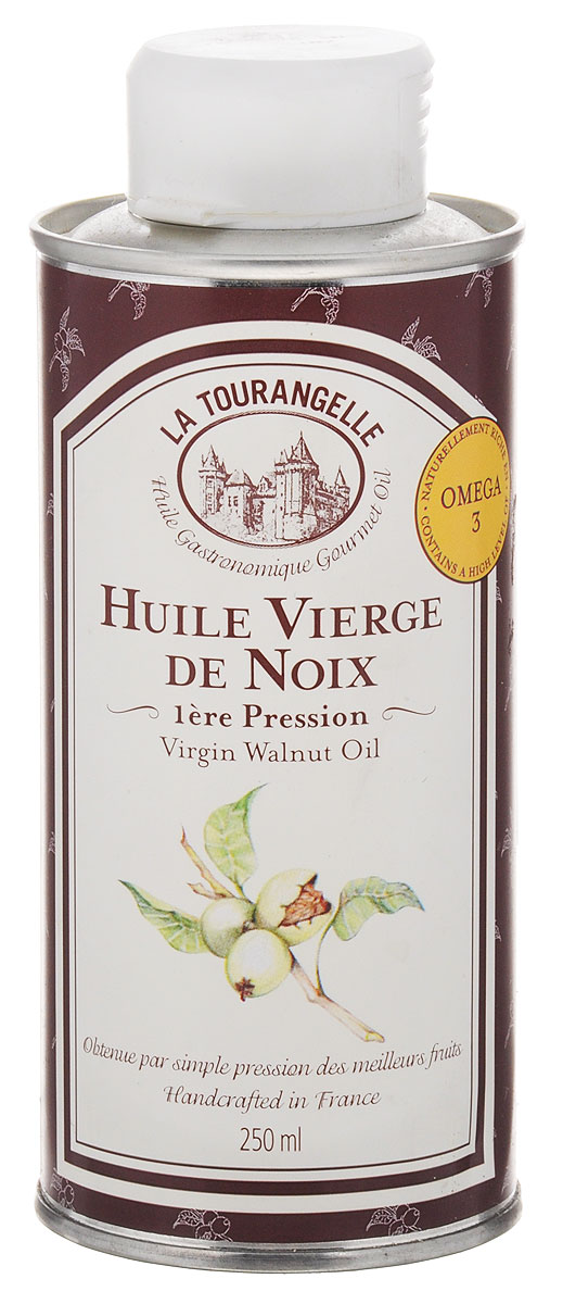La Tourangelle Virgin Walnut Oil масло грецкого ореха нерафинированное, 250 мл масло kativa morocco argan oil nuspa масло