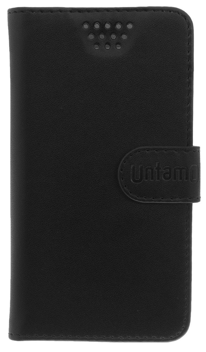 Untamo Essence чехол универсальный 4.0-4.5, BlackUESSL4.0-4.5BLУниверсальный чехол-книжка Untamo предназначен для защиты корпуса и экрана смартфона диагональю 4,0-4,5 от механических повреждений и царапин в процессе эксплуатации. Имеется свободный доступ ко всем разъемам и кнопкам устройства. Надежная фиксирующая смартфон внутренняя поверхность. Подходит для смартфонов с любым расположением камеры.