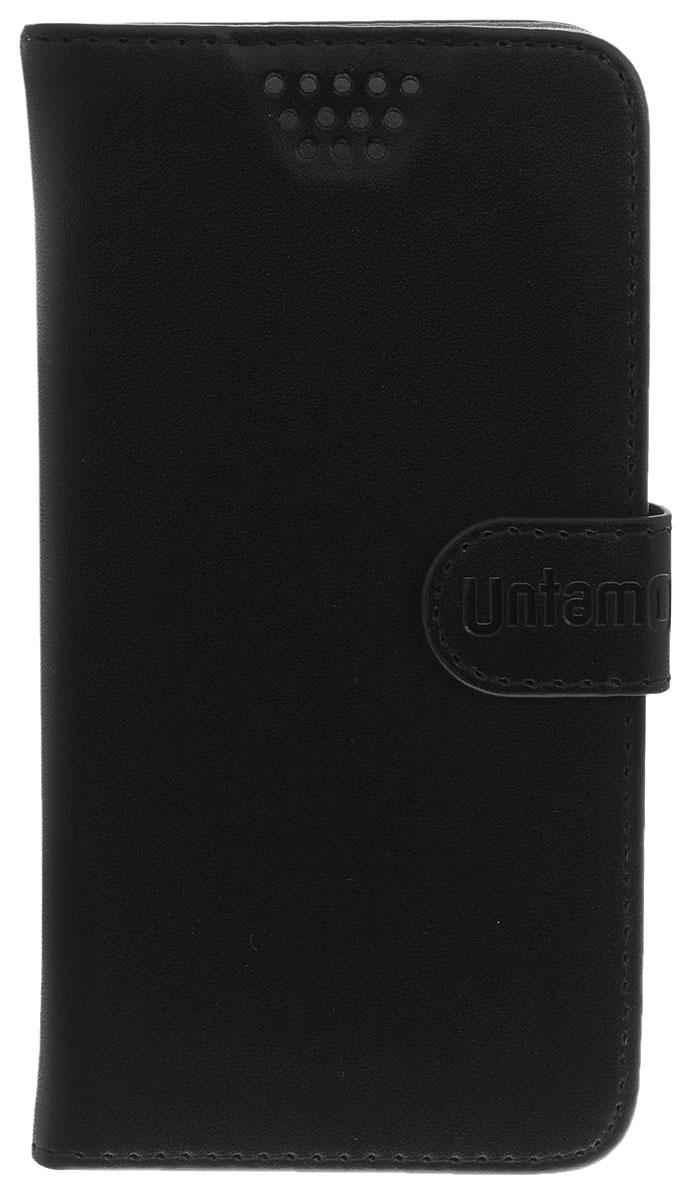Untamo Essence чехол универсальный 4.5-5.0, BlackUESSL4.5-5.0BLУниверсальный чехол-книжка Untamo предназначен для защиты корпуса и экрана смартфона диагональю 4,5-5,0 от механических повреждений и царапин в процессе эксплуатации. Имеется свободный доступ ко всем разъемам и кнопкам устройства. Надежная фиксирующая смартфон внутренняя поверхность. Подходит для смартфонов с любым расположением камеры.