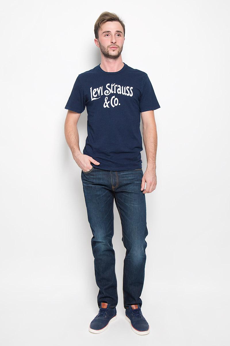 Джинсы мужские Levis® 508, цвет: темно-синий. 1650802690. Размер 29-32 (44-32)1650802690Мужские джинсы Levis® 508, выполненные из качественного эластичного хлопка, станут отличным дополнением к вашему гардеробу. Ткань плотная, тактильно приятная, позволяет коже дышать. Джинсы прямого кроя и заниженной посадки застегиваются на металлическую пуговицу в поясе и имеют ширинку на застежке-молнии, а также шлевки для ремня. Модель имеет классический пятикарманный крой: спереди - два втачных кармана и один маленький накладной, а сзади - два накладных кармана. Джинсы оформлены контрастной прострочкой и эффектом потертости. Отличное качество, дизайн и расцветка делают эти джинсы стильным и модным предметом мужской одежды. Легендарные джинсы Levis® 508 символизируют полную свободу самовыражения