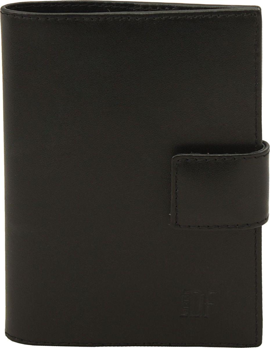 Обложка для паспорта мужская Dimanche Bond, цвет: черный. 335335_черныйОригинальная обложка для паспорта Dimanche Bond выполнена из натуральной кожи. На внутреннем развороте имеются кожаные карманы, на подкладке. Закрывается обложка хлястиком на кнопку.