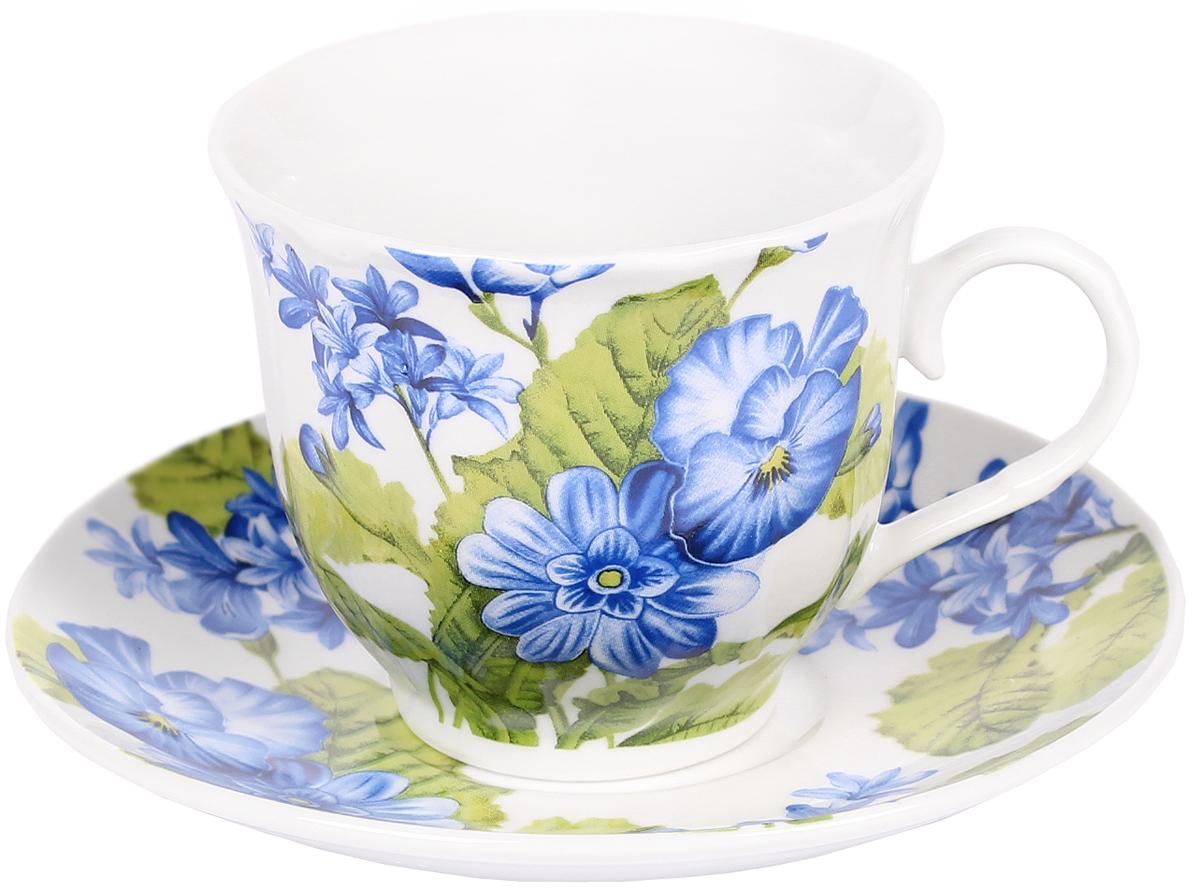 Чайная пара Bella, 2 предмета. DL-F1GB-044DL-F1GB-044Чайная пара Bella состоит из чашки и блюдца, изготовленных из высококачественного фарфора. Оригинальный яркий дизайн, несомненно, придется вам по вкусу.Чайная пара Bella украсит ваш кухонный стол, а также станет замечательным подарком к любому празднику.Объем чашки: 220 мл.